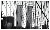 Towers from the Brooklyn Bridge 1990s von John Rizzuto