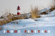 Grußkarte Weihnachten Sylter Leuchtturm von Beate Zoellner