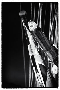 Flag Pole on the Yacht von John Rizzuto