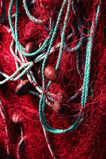 Red Fishing Net von John Rizzuto