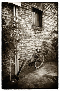 Bike in Pirates Alley by John Rizzuto