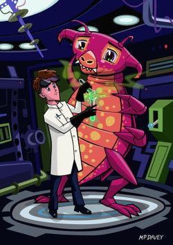 Manga-professor-with-nice-pink-monster