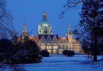 Rathaus im Winter von Joachim Hasche