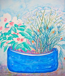 Pot of Flowers by Christine Chase Cooper