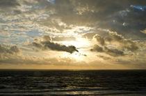 Meer Himmel Golden von caladoart