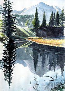 Ruhe am See by Bruno Schmidiger