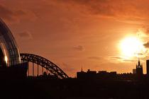 Sunset City Skyline by John Ellis
