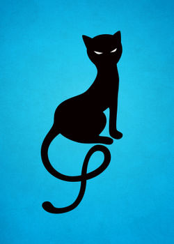 Blue-gracious-evil-black-cat-poster-20x28-1