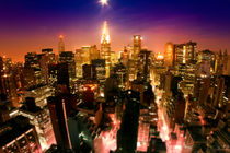 New York Kunstdruck - Moonset von temponaut