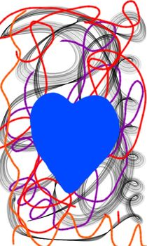 Blaues Herz von Margit-Maria Schneider