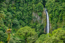 Rio Fortuna waterfall von Barbara Magnuson & Larry Kimball