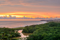 Rio Nosara sunset by Barbara Magnuson & Larry Kimball