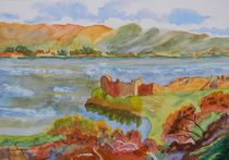 Urquhart Castle on Loch Ness Scotland by Warren Thompson