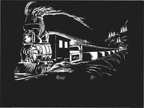 Scratchboard - IronHorse(Train Engine) von tiritilli