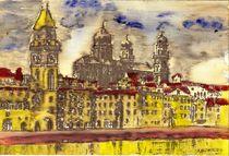 Passau im Regen acryl by badauarts