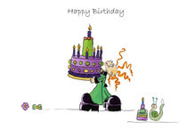 Das drollige Julchen : Happy Birthday von Monika Blank-Terporten