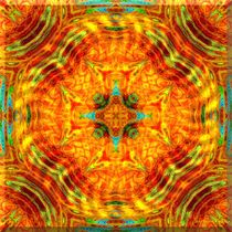 Citrus Cinnamon Mandala (Beveled) von Richard H. Jones