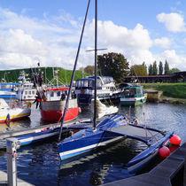 Bootshafen in Kleipeda by Sabine Radtke