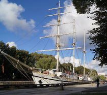 Segelschiff in Kleipeda von Sabine Radtke