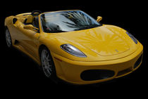 Yellow Ferrari Sports Car by agrofilms