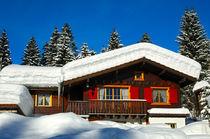 Blockhaus im Schnee von gfc-collection