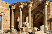 Medusenkopf, Leptis Magna, Libyen by gfc-collection
