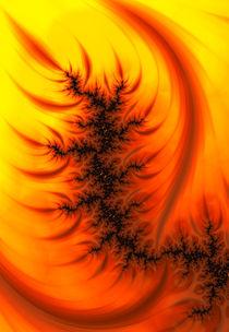 Fraktal Design orange gelb und schwarz von Matthias Hauser