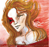 red woman von Cornelia Papendick
