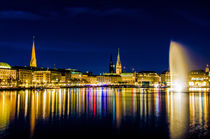 Die Alster in Hamburg by Dennis Stracke