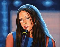 Alanis Morissette painting von Paul Meijering