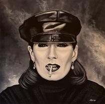 Anjelica Huston painting by Paul Meijering