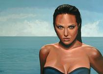 Angelina Jolie painting by Paul Meijering