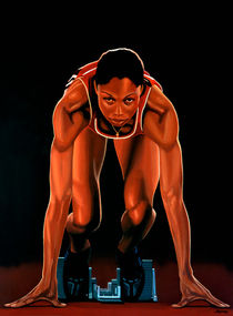 Allyson Felix painting by Paul Meijering