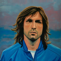 Andrea Pirlo painting by Paul Meijering