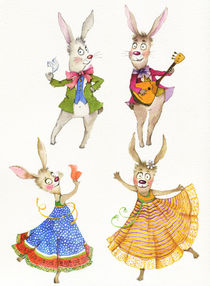 dancing bunnies von Yana Kachanova