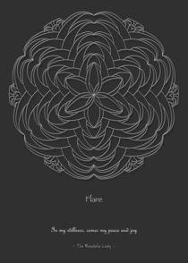Flare Mandala - white design w/msg von themandalalady