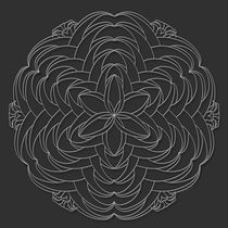 Flare Mandala - white design von themandalalady