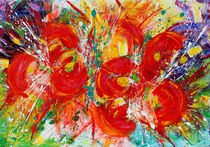 Floral Abstract Painting von Julia Fine Art