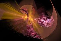 Fraktal Design gold pink schwarz von Matthias Hauser