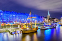 Christmas market illumination in Bremen by Michael Abid