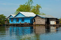 Schwimmendes Dorf, Tonle Sap See, Kambodscha / Floating village on the Tonle Sap lake, Cambodia von gfc-collection