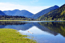 Stille am Bergsee von Brigitte Stolle