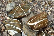 Braune Flusssteine von Brigitte Stolle
