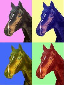 Pferd PopArt - Horse PopArt by Nicole Zeug