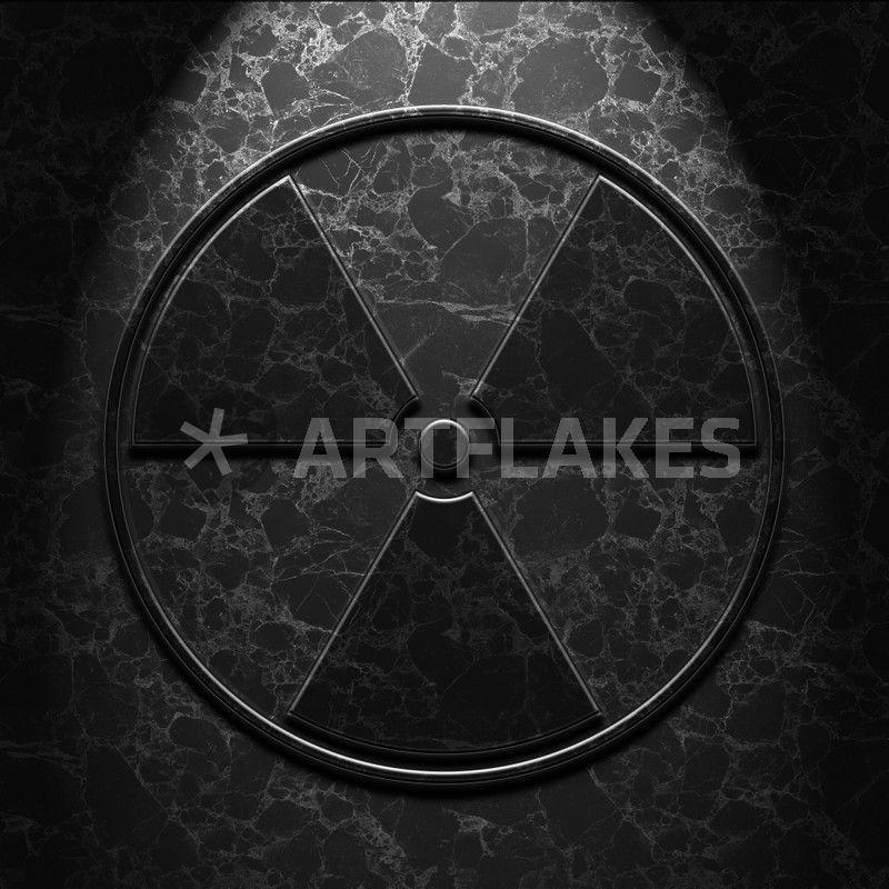 Radioactive Symbol Black Marble Texture Digital Art Art Prints And