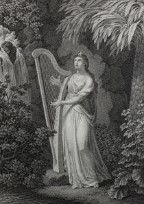 0136s - Harfe-Spielerin - harp-player by stiche. biz