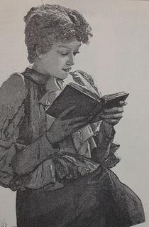 0377s - Leseratte - bookworm von stiche. biz