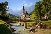 St. Sebstian Kirche Ramsau b. Berchtesgaden von Dominik Wigger