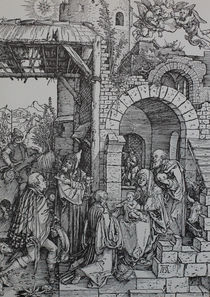 0463s - Der Stall zu Betlehem -  stable in Bethlehem by stiche. biz