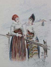 0630s -  Finnische Trachten-Mädchen - Finnish girl von stiche. biz